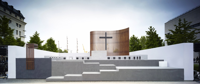 Scénographie pour la Messe de l'Armada © CBA